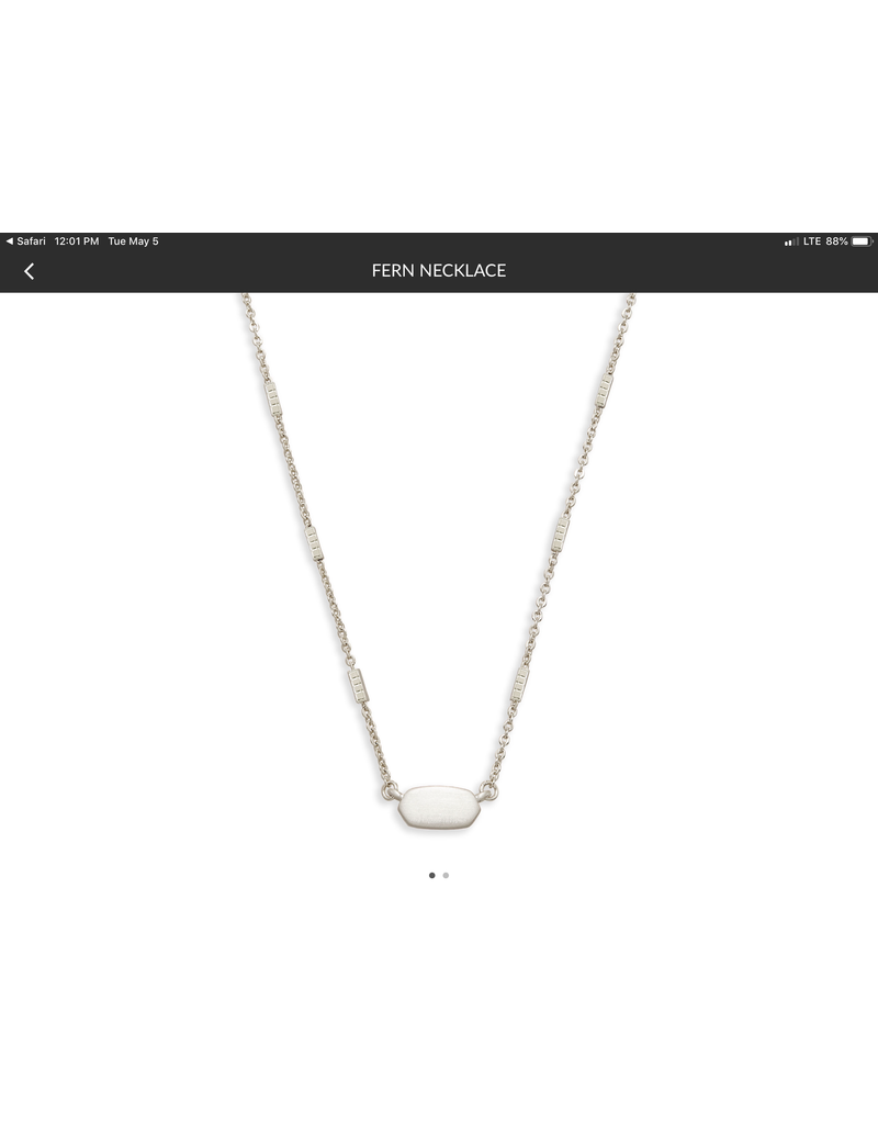 KENDRA SCOTT Fern Pendant Necklace  silver4217715883