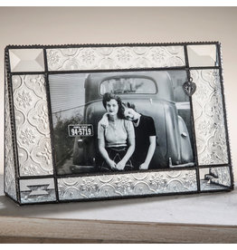 Vintage & Bevel with heart charm 4x6 h frame 278 46h