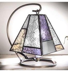 Mini lamp with purple & salem accents Lam 710-2