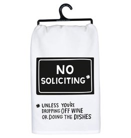 No Soliciting towel 104254