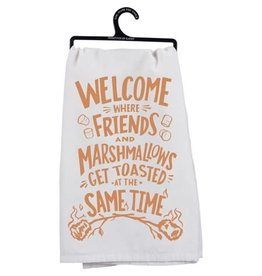 Welcome Friends and Marshmallows Towel 35516