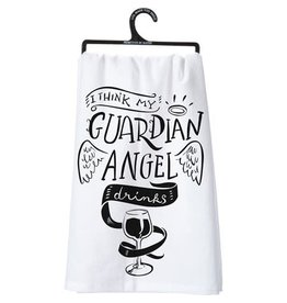 I Think My Guardian Angel Drinks Towel 25357