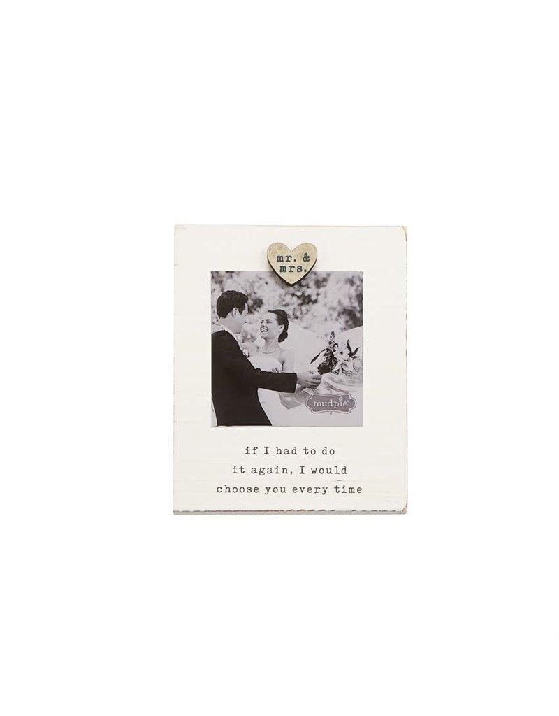 Mr and Mrs Magnet Wood Frame 46900180