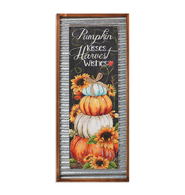 "Wood and Metal Harvest Sign 31.5"" H 2490840"