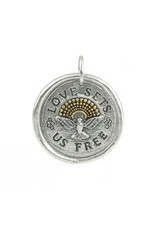 """WAXING POETIC Love Sets Us Free Pendant 1-1/8"""" LSUF4MS"""