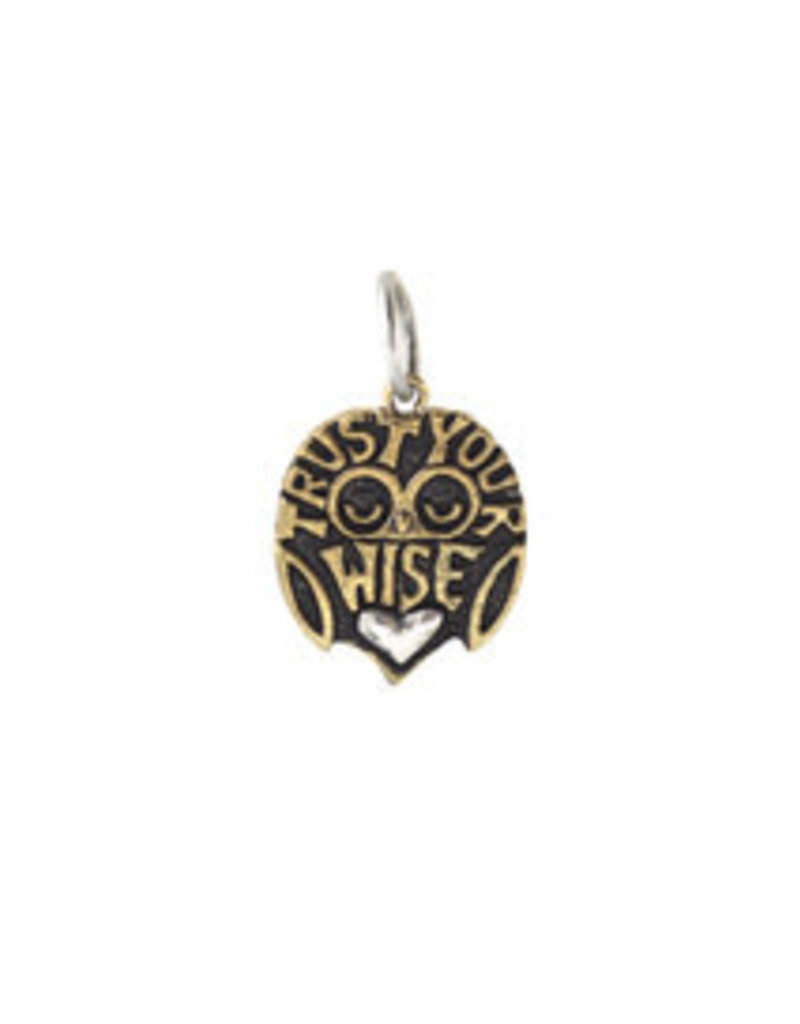 """WAXING POETIC High Vibes Charm-Trust Your Wise Heart .86"""" HIVB2MS-HRT"""