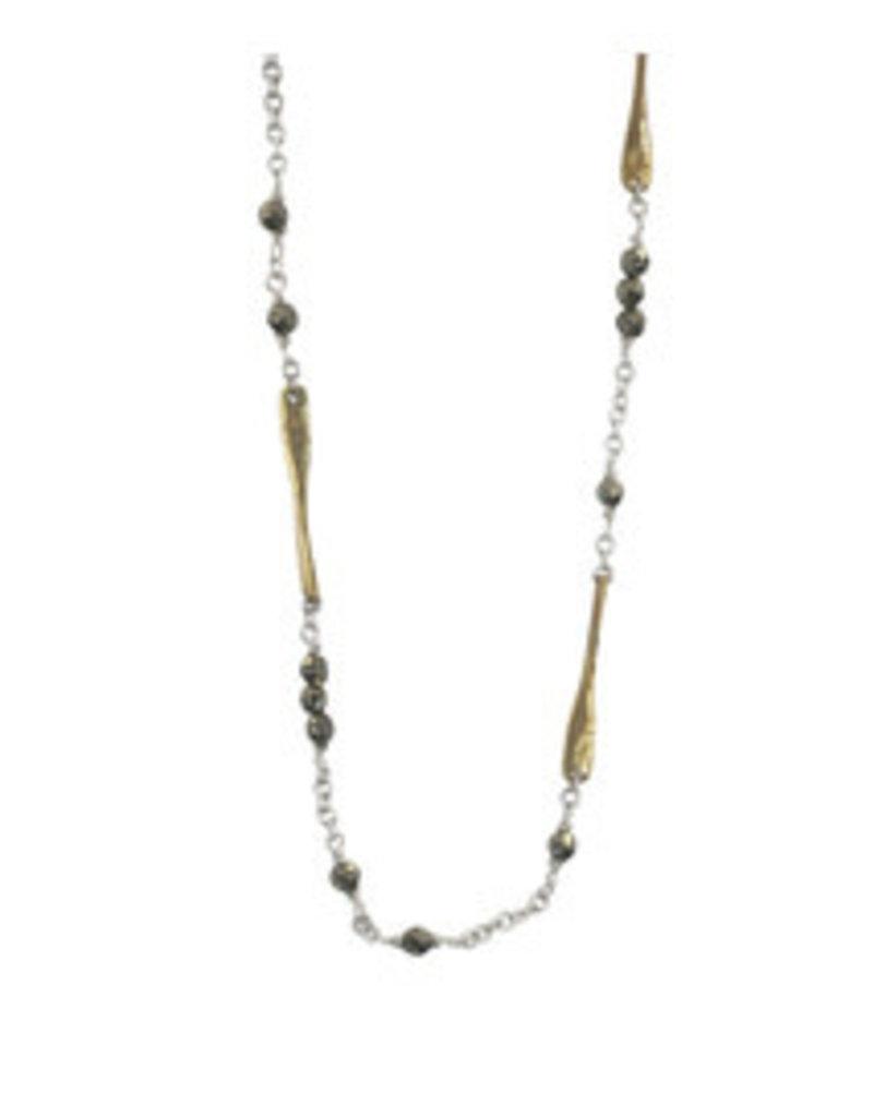 "WAXING POETIC Lume Chain-Pyrite 18"" LUM3-SB"