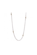 """WAXING POETIC Thin Cable With Beads Chain 18"""""""