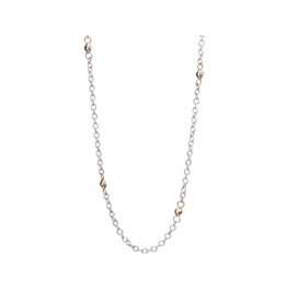 WAXING POETIC Thin Cable With Beads Chain 18""
