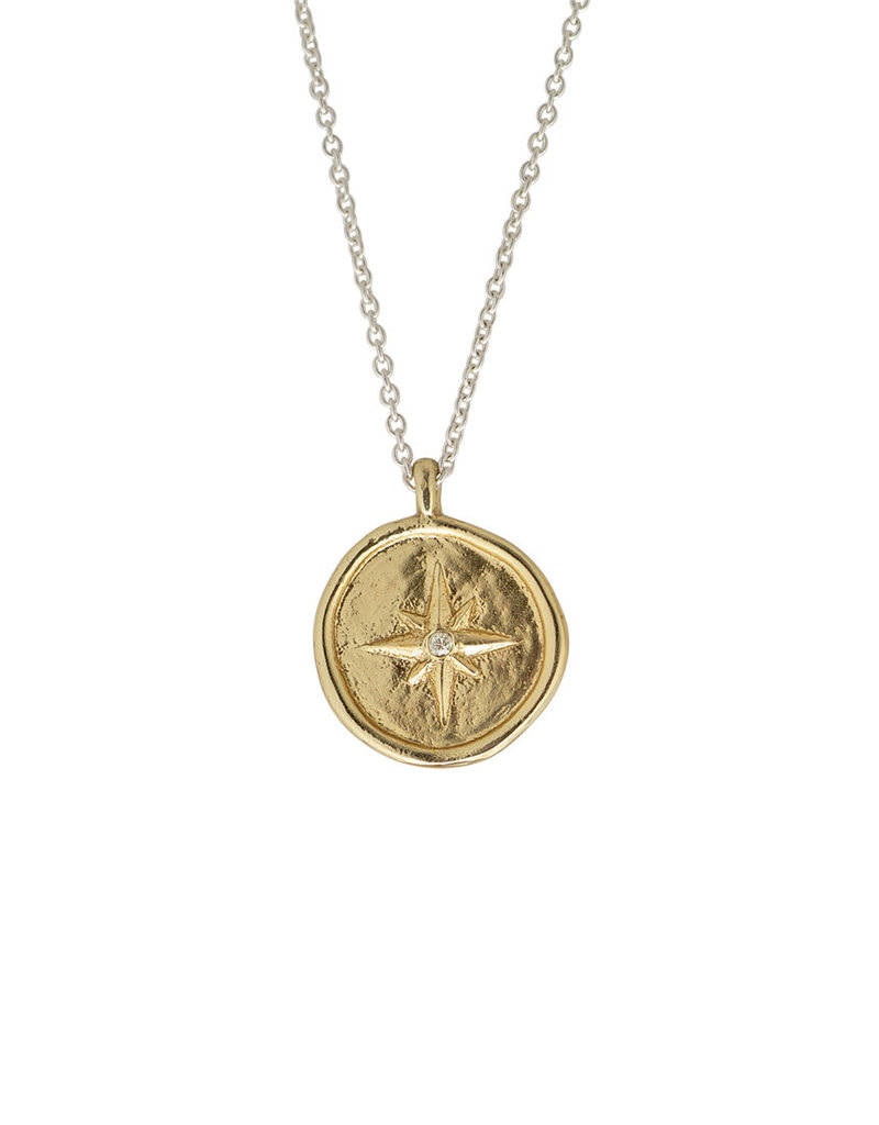 "WAXING POETIC Inner Compass Mini Necklace 18"" INCP5MS-CC"
