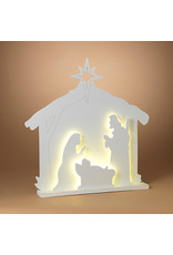 "Electric Manger Scene Silhouette Light 33"" 2441270"
