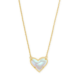 KENDRA SCOTT Ari heart short pendant dichroic glass gold 4217706879
