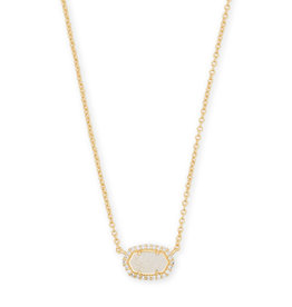KENDRA SCOTT Chelsea necklace gold iridscnt drusy cz 4217714163