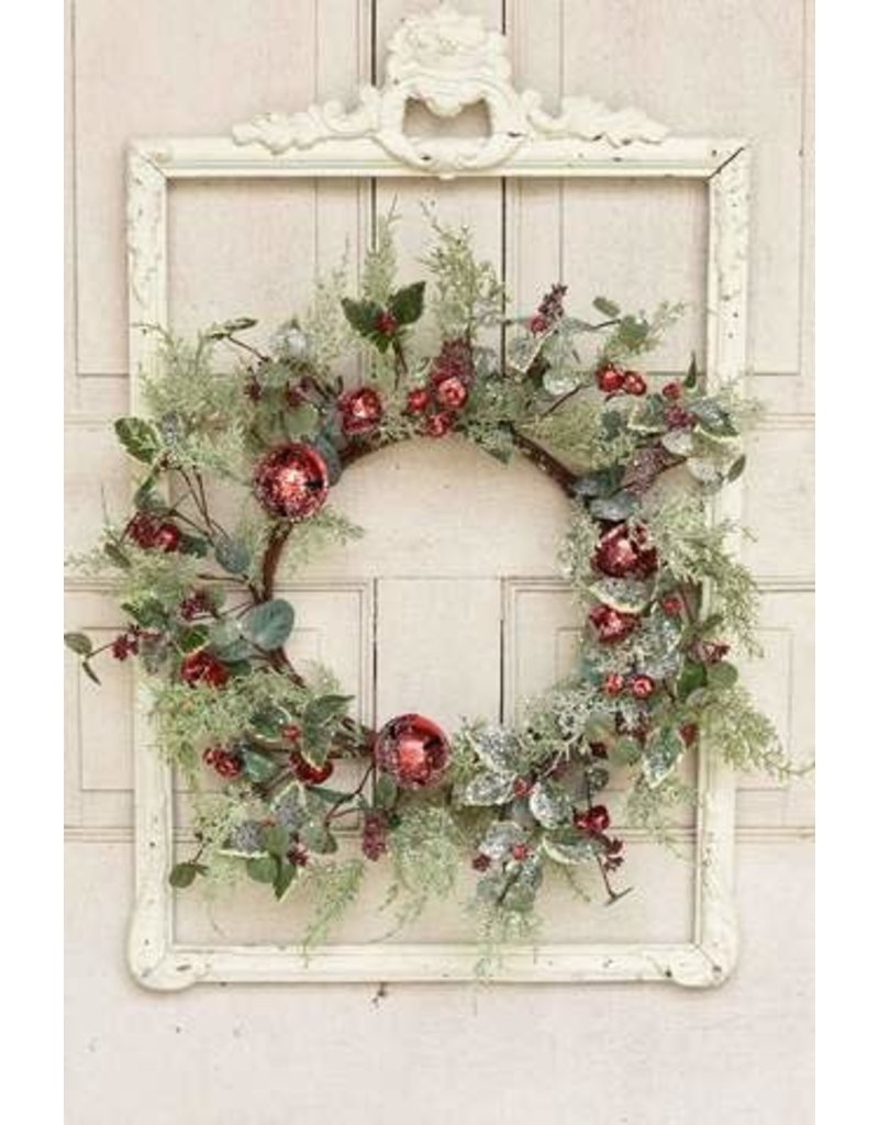 "Blizzard Bliss Bells Wreath 22"" XM81606"