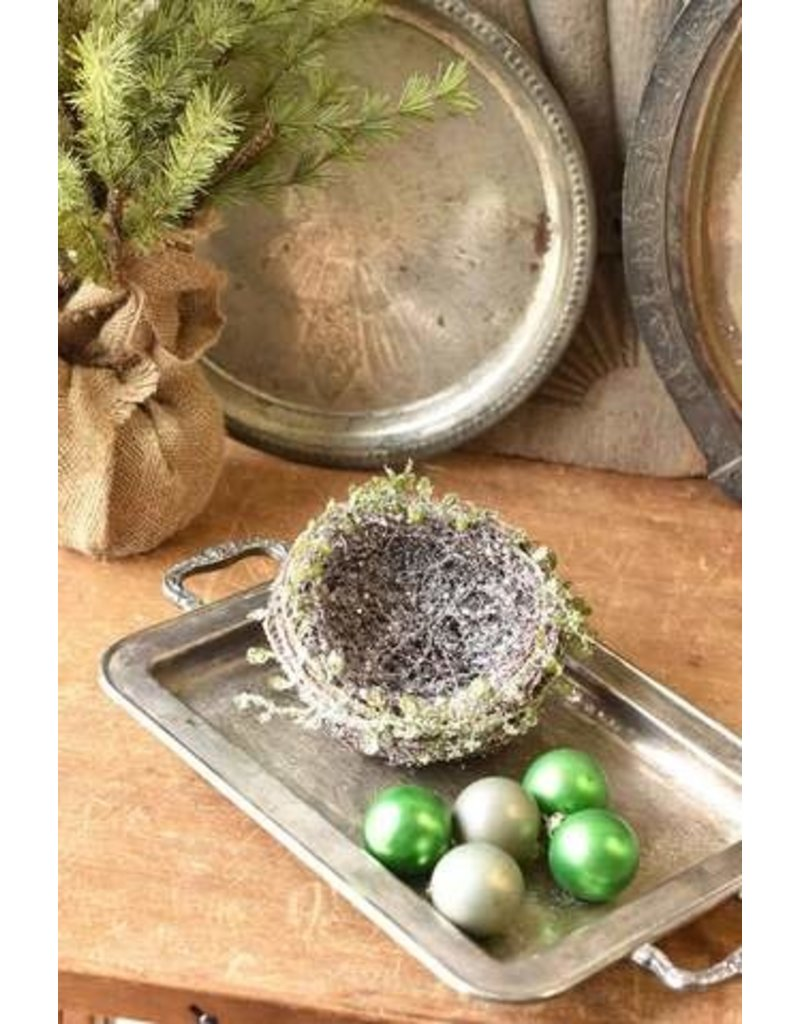 """Iced Twined Vine Nest 6"""" XBR6019"""