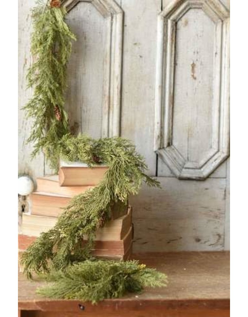 "Alpine Cedar Garland 6"" XP78424"
