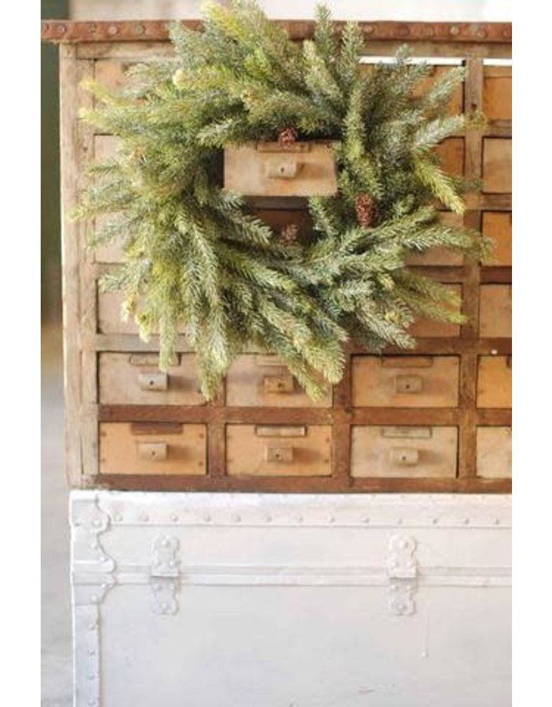 """Frosted White Spruce Wreath 17"""" XP78261"""