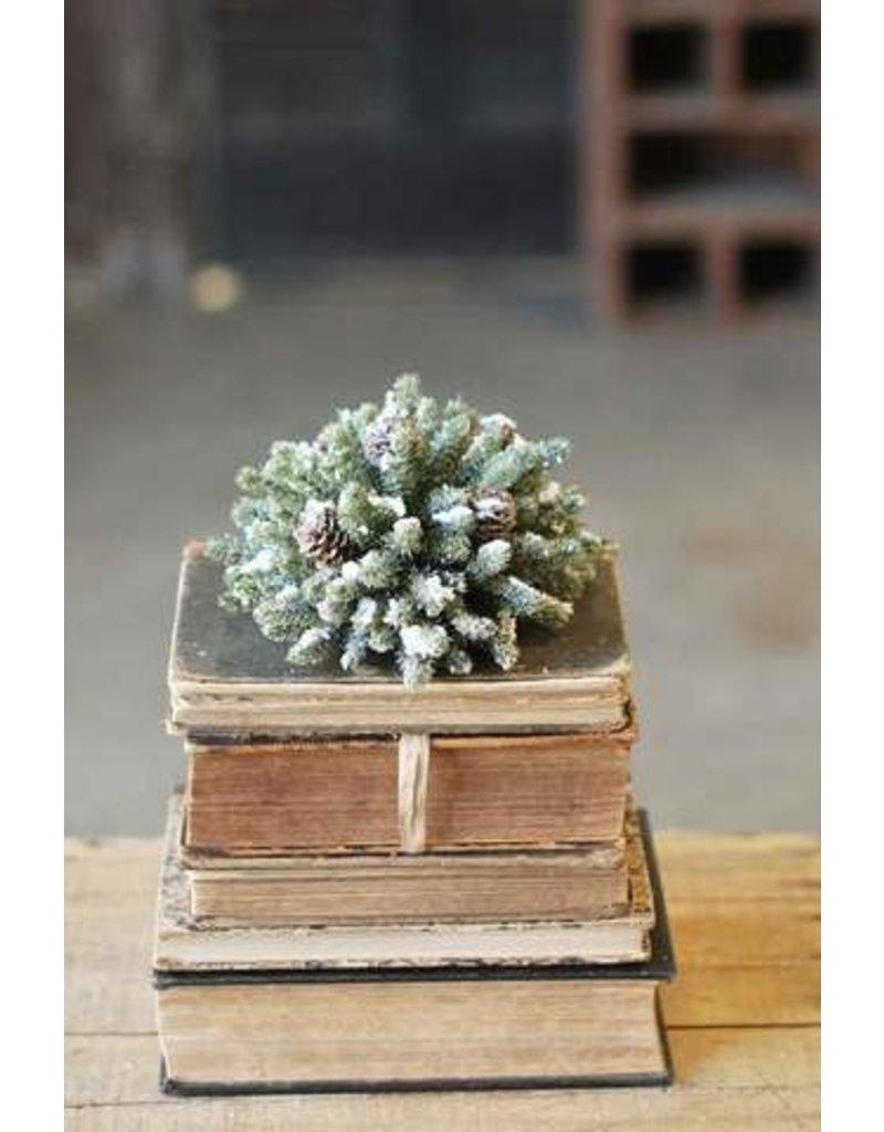 "Snowy Mini Pine Half Sphere 7"" XG81670"