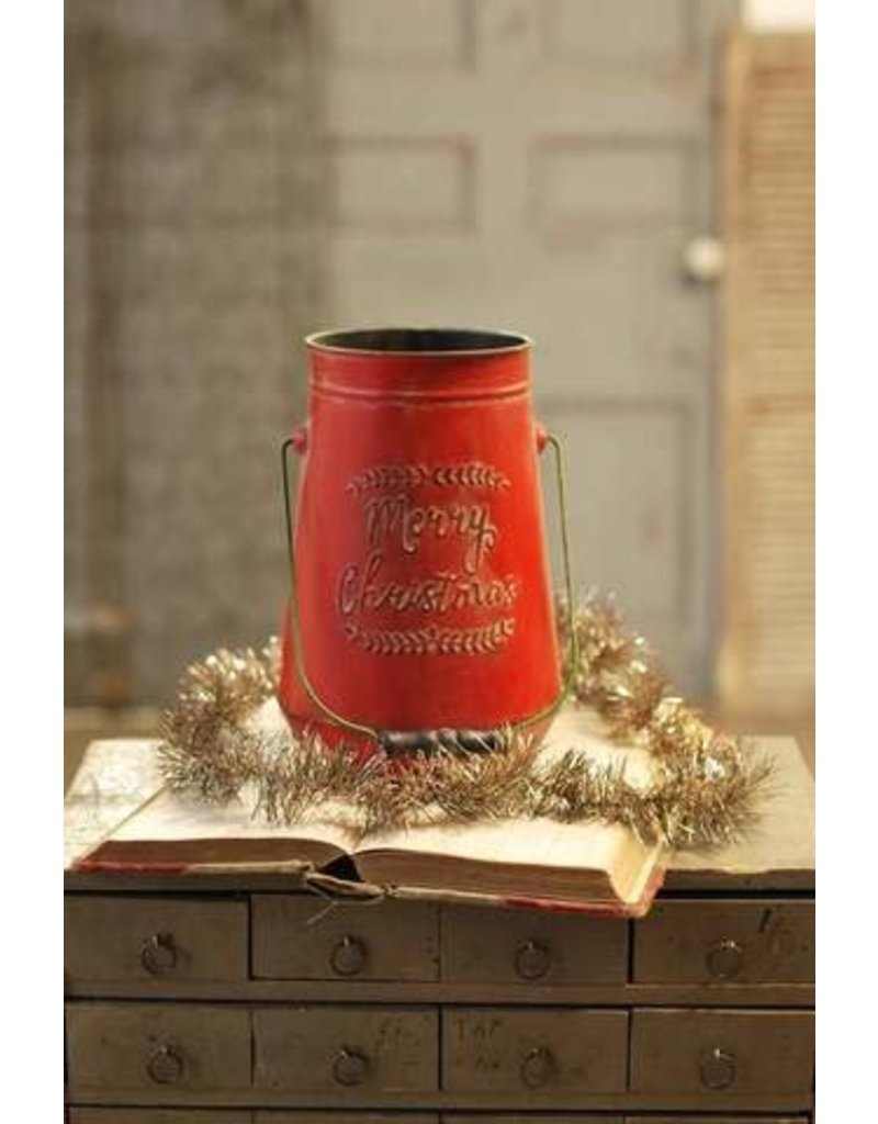"""Merry Christmas Canister 11"""" QC92797"""