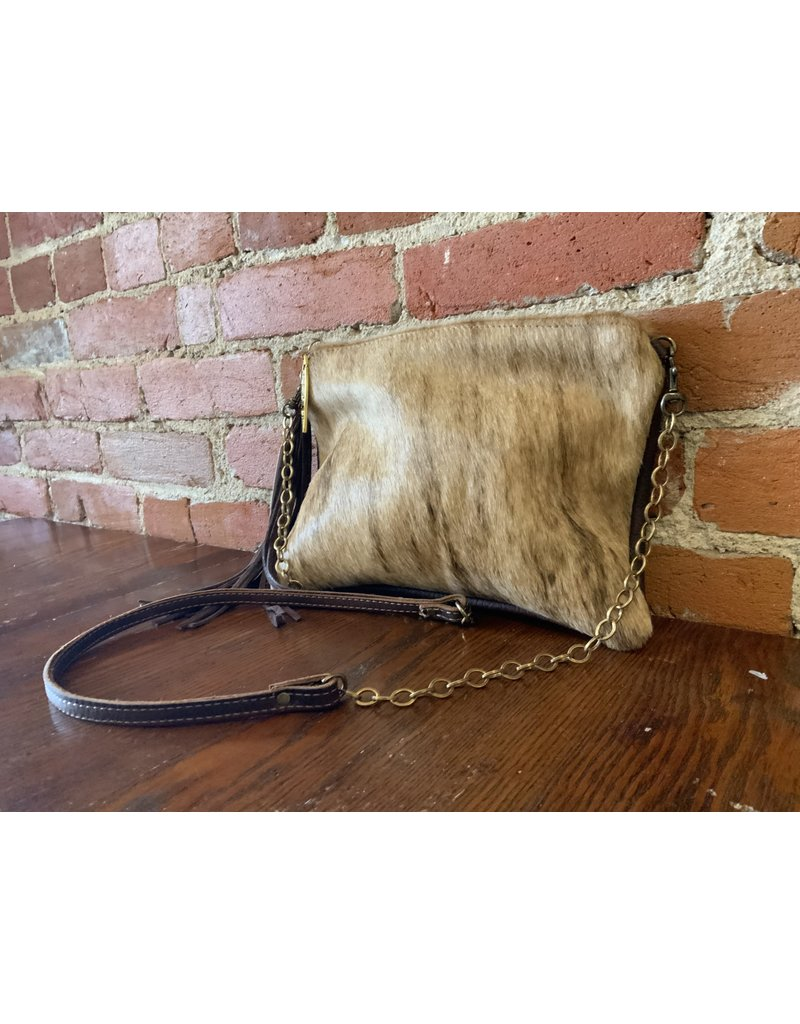 Canoe Envelope ca brindle hide purse