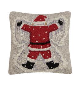 Santa snow angel hooked pillow