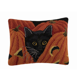 Coal Robinson hooked pillow