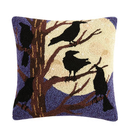 Night ravens hooked pillow