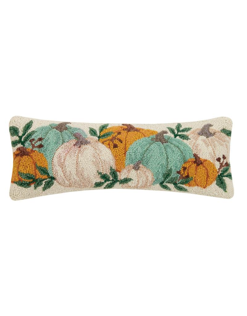 Pumpkin festival hooked pillow