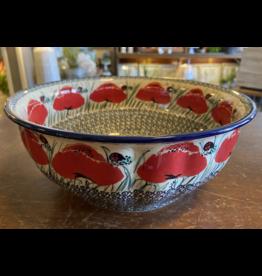 Lady bug fluted bowl f30