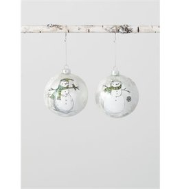 Snowman/Flake Ball Ornament OR9455