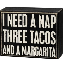 Box Sign - Three Tacos 107431