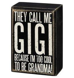 Box Sign - call Me Gigi 107441