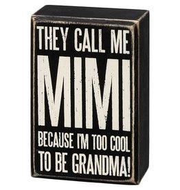 Box Sign - Call Me Mimi 107443
