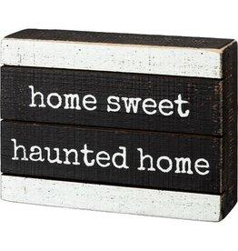 Slat Box Sign - Haunted Home 106259