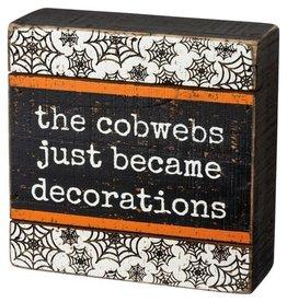 Debossed Box Sign - Cobwebs 106409