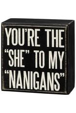 Box Sign - Nanigans 107447