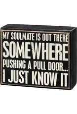 Box Sign - Pull Door 107474