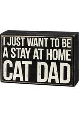Box SIgn - Cat Dad 107477
