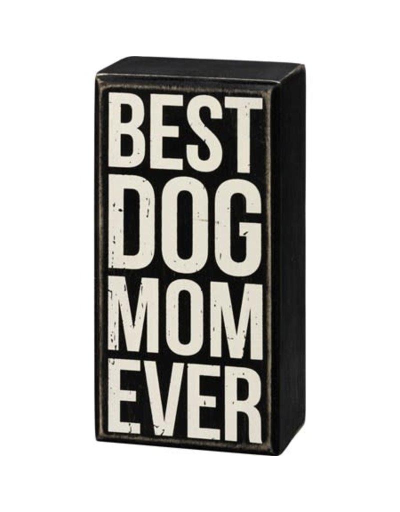 Box Sign - Best Dog Mom 107478