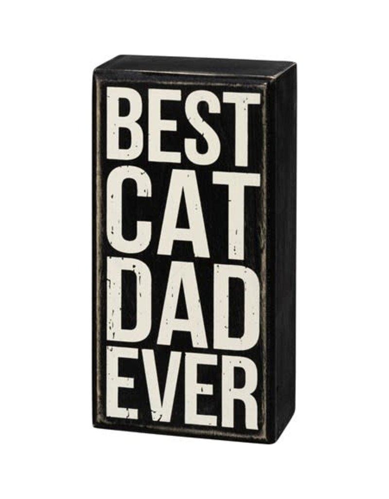 Box Sign - Best Cat Dad 107481