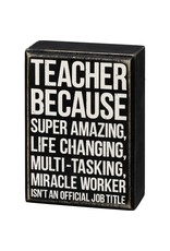 Box Sign - Teacher 107483