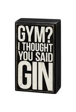 Box Sign - Gym 107488