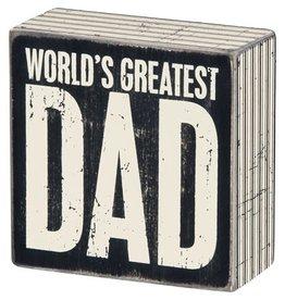 Box Sign - Greatest Dad 22654