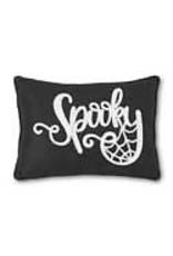 17.5 Inch Black Rectangular SPOOKY Pillow