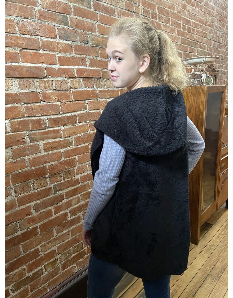 Dylan Double plush cozy black vest