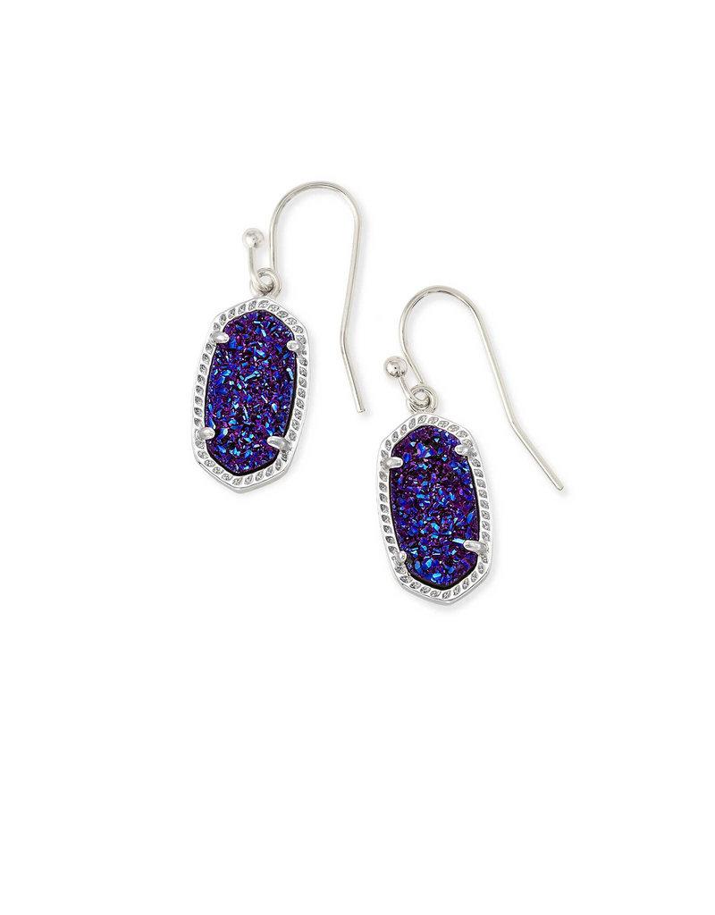 Jacqueline Kent Lee earring rhod indigo blue drusy