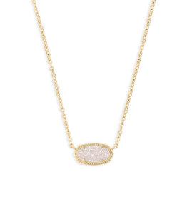 KENDRA SCOTT Elisa necklace gold irdscnt drusy 4217709208