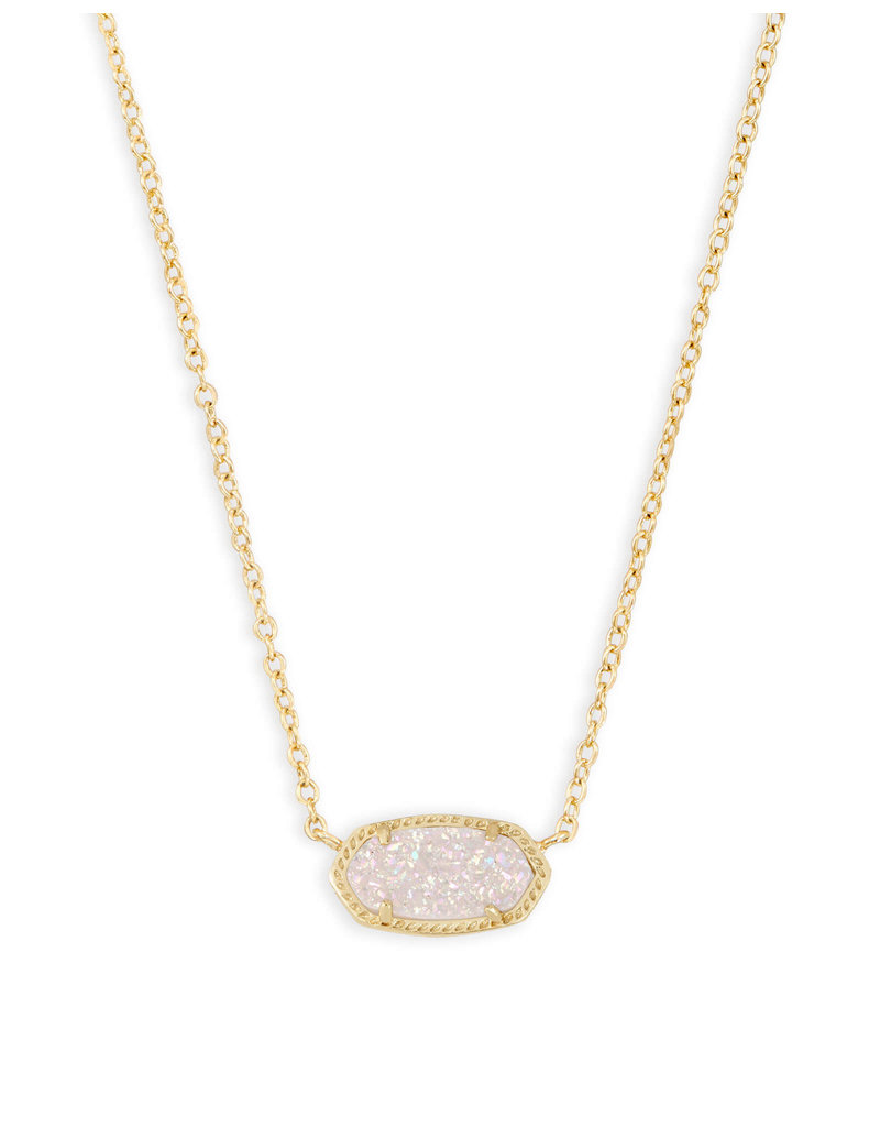 KENDRA SCOTT Elisa necklace gold irdscnt drusy 4217709208
