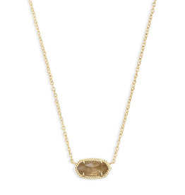 KENDRA SCOTT Elisa necklace gold orange citrine qrtz