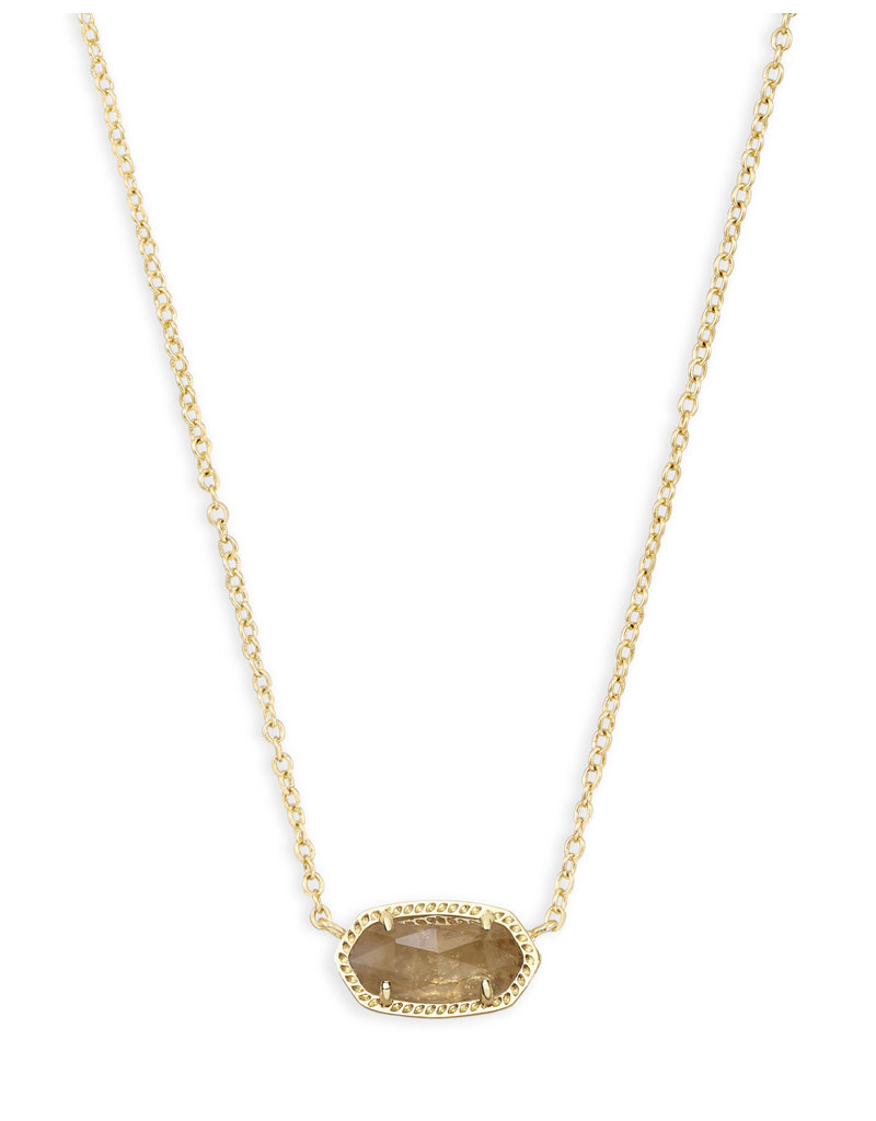 KENDRA SCOTT Elisa necklace gold orange citrine qrtz